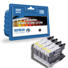4 COMPATIBLE BROTHER DCP MFC BLACK PRINTER INK CARTRIDGES LC1220 / LC1240
