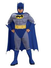 Childs Boys Batman Muscle Chest Costume Super Hero Fancy Dress Deluxe Fun Outfit