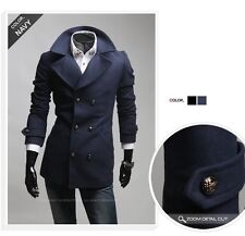 New Fashion Designed Winter 2014 Long Jacket Double Breast Trench Coat SR706