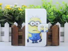 5# Despicable Me Minions Silicone Rubber leather flip case cover For Nokia Lumia
