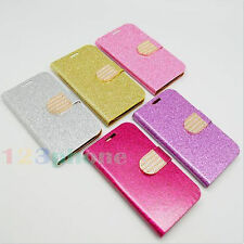 BLING GLITTER SYNTHETIC LEATHER ID CREDIT CARD CASE FOR SAMSUNG GALAXY S3