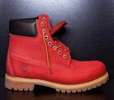 """SYCAMORE STYLE Custom Dyed """"Suicide"""" Riz Red  Timberland Boots"""