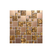 High Quality Mix Metal Glass Mosaic Wall Tiles-Kitchen/Bathroom Three Colors