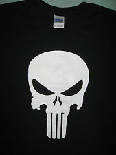 """The PUNISHER Logo T-Shirt, """"FREE FAST SHIP"""" White or Red Print. Sizes Sm-5XL"""