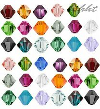 100pcs Loose Glass Crystal Bicone Shaped Spacer Beads 4mm for Jewelry Making