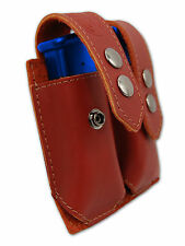 NEW Barsony Burgundy Leather Dbl Mag Pouch Llama, NA Arms Mini/Pocket 22 25 380