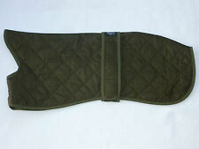 "WOODLANDS 19"" 48 cm 21"" 53 cm 23"" 58 cm WHIPPET COATS ARMY GREEN SOFT QUILTED"