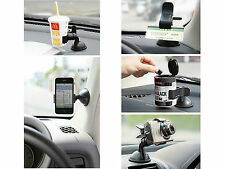 Universal 2 Way Bed Desktop Car Windshield Mount Holder Goose Neck for Phone GPS