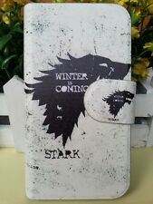 WINTER COMING START Black Game of Thrones leather flip case cover for Samsung 2