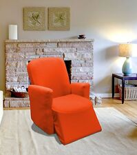 ORANGE JERSEY RECLINER STRETCH SLIPCOVER, COUCH COVER, FURNITURE RECLINER COVER