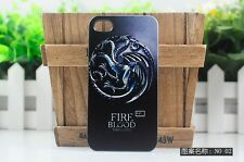 In Stock FIRE BLOOD dragon game of thrones hard case cover for iphone4 4S 5S 5C