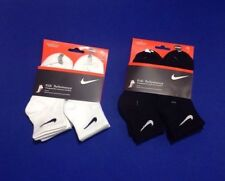 Nike Kids' Performance Socks- 6 Pairs, White or Black, Size 5-6 & 6-7
