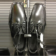 men work casual black lace ups synthetic leather shoes size 8 9 10 11 12