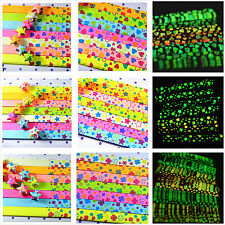 5 Packs 5 Colors  Scented  Glow in Dark Lucky Star Origami Folding  Strip Paper