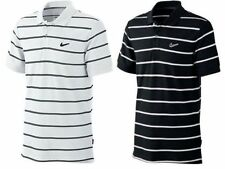 Nike Polo Shirt Short Sleeve Golf Top Ad Club Pique Striped Cotton T Shirt