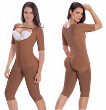Compression Garment Post- Quirurgicas  Faja with sleeves 9142 Mocca