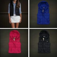 NWT Hollister Abercrombie Women Hermosa Hooded Puffer Vest Jacket - XS, S, M