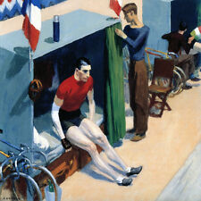 French Six-Day Bicycle Rider-Edward Hopper  CANVAS or PRINT WALL ART