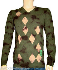 DESIGUAL pull laine JERS ROMBOS VERDE vert homme taille M size