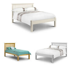 Happy Beds Barcelona Pine / White Low Foot End Bed Solid Wood Bedroom Furniture