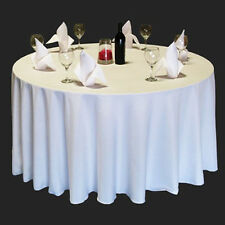 "10 Pack 90"" Round Polyester Tablecloths Wedding Restaurant Banquet - 4 Colors!"