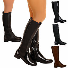 R9K NEW WOMENS LADIES KNEE HEIGHT BOOTS CASUAL FLAT STYLISH WINTER SHOES SIZE