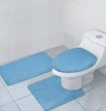 3 PCS BATHROOM RUG, CONTOUR RUG AND LID COVER SET, HAILEY BATHROOM RUG SET, LB