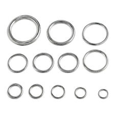 "Round Welded Stainless Steel Rings Select 12 Sizes 5/8"" to 2-3/4"" Type 316 SS"