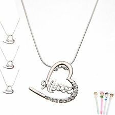 "Unique Design Heart With Letters ""nurse"" Nurse Pendant Nurse Day Gift+1 Free Pen"
