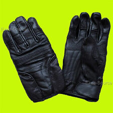NEW GENUINE LEATHER MOTORCYCLE WINTER DRIVING GLOVES w/GRIP PROTECTION - K1H