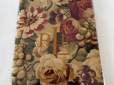 New Ralph Lauren Cliffwoods/Multi Green Cream Red Purple Floral Tablecloth