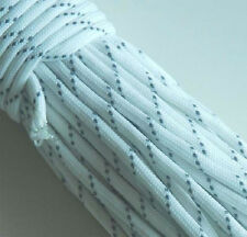 NEW TACTICAL PARACORD WHITE GLOW IN THE DARK REFLECTIVE HIKING SURVIVAL CRAFTS
