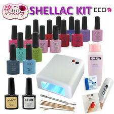 CCO UV Nail Gel Manucire Kit 36W UV Lamp for Shellac Nails with CND Remover Wrap