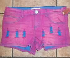 NO BOUNDARIES~PINK Mini BOOTY SHORTS~11 or 13~NWT~Juniors Short Daisy Dukes Pair