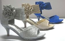 Girls Dress Shoes Pageant Heels (S-5) Youth Flower Girl Party Shoes