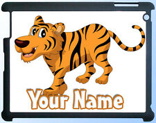 CARTOON TIGER PERSONALISED IPAD 2 3 4 / MINI / AIR - CASE / COVER *GIFT & NAMED*