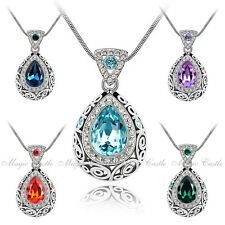 Magic Castle Crytal Pendant Necklace Birthday Xmas Valentine Mother Gift for Her
