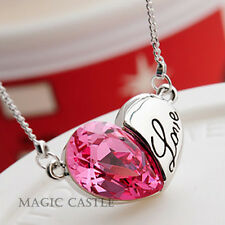 Magic Castle Crytal Pendant Necklace Birthday Xmas Valentine Gift for Her
