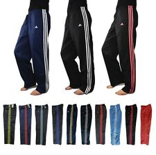 Adidas 3 Stripe Womens Tracksuit Wind Pants Ladies Running Fitness Gym  Bottoms