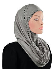 Shimmer 1Pc Amira Hijab Stretchy SCARF SILK  80/20 CHOOSE YOUR COLOR