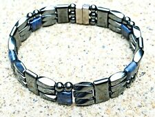 Mens Powerful Magnetic Hematite Jewelry Bracelet Anklet STRONG 3 ROW THERAPY