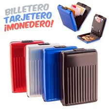 CARTERA DE ALUMINIO ALL IN 1 TARJETERO, MONEDERO, BILLETERA. ANUNCIADO EN TV