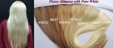 One Piece (Straight) Hair Extension Piece Clip Blonde Mix Kanekalon Bride Gift
