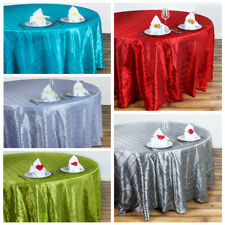 """132"""" ROUND Pintuck Fancy TABLECLOTH - Wedding Party Catering Linens Supplies"""