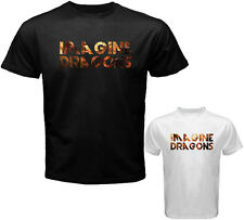New Imagine Dragons Band Logo Night Visions Men's White Black T-Shirt Size S-3XL