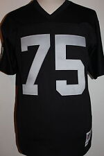 Howie Long #75 Oakland Raiders Black Throwback Mitchell & Ness Mens Jersey