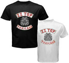 New ZZ TOP TEXICALI Rock Legend Music Men's White Black T-Shirt Size S to 3XL