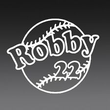 8 Inch CUSTOM BASEBALL NAME Vinyl Decal Sticker Die Cut SPORT TEAM PERSONALIZE