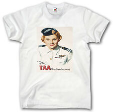 TAA  AIRLINES 1970's SHIRT S - XXXL VINTAGE POSTER T A A AIRWAYS FLY