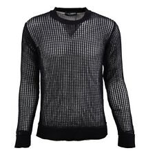 DOLCE & GABBANA RUNWAY Net Sweater Purple Reseau Pull Pourpre 02143